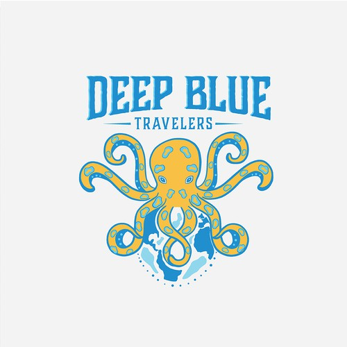 Logo for deep blue travelers