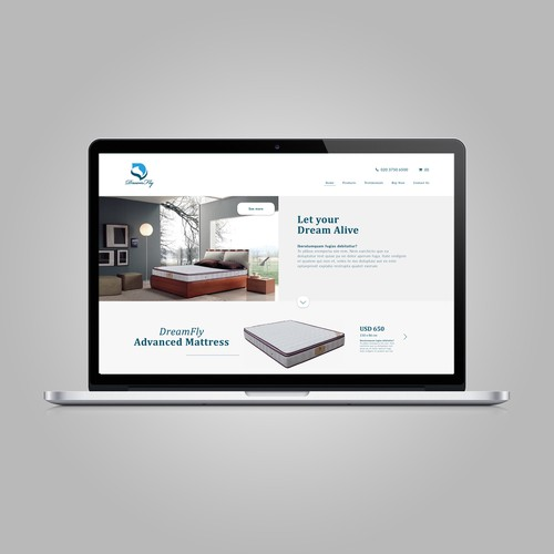 Clean One Page Web Design
