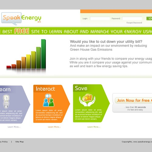 Speak Energy Website design