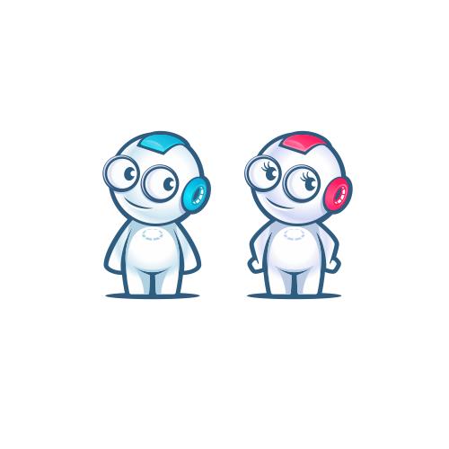 Mascot toy robot