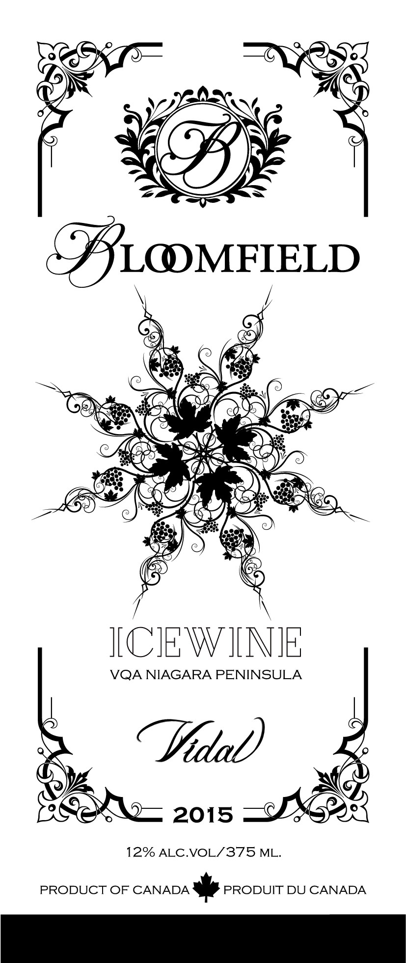 Create an Elegant Front Label and Neck for Our Icewine