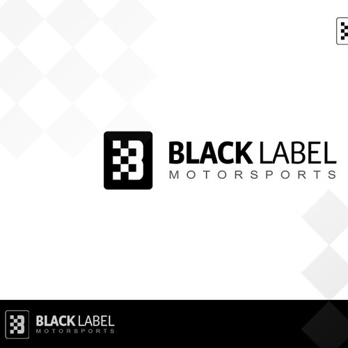 Create a distinctive, luxury brand for an automotive race car fabrication company Black Label IND