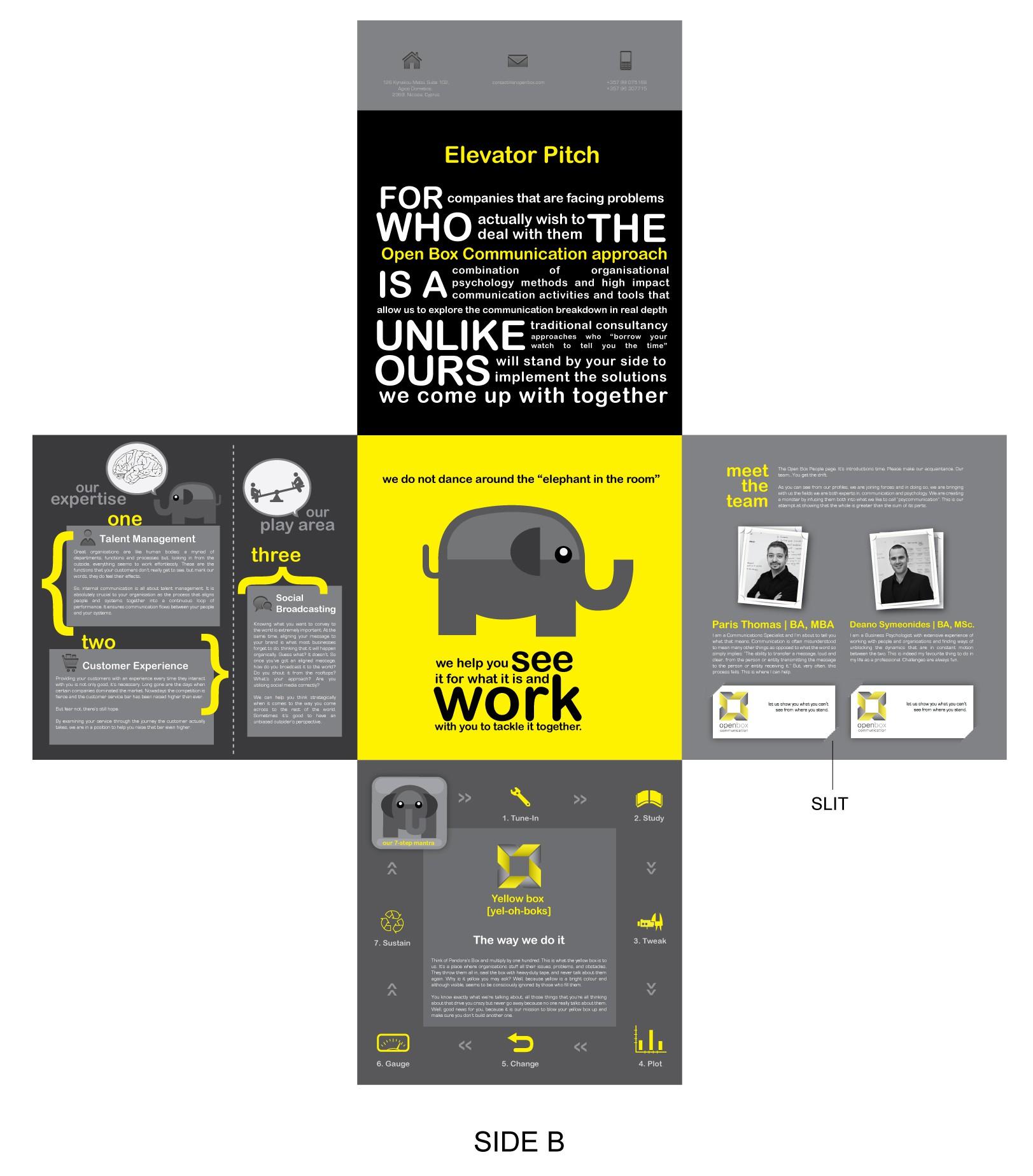 Brochure design for Open Box Communication