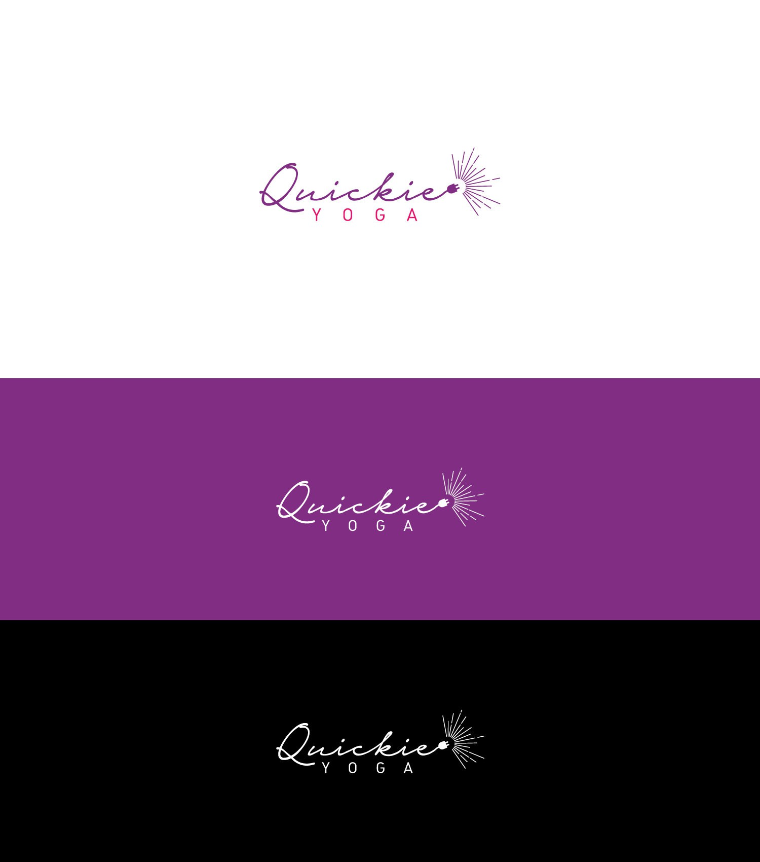 Create a fun, youthful logo for Quickie Yoga