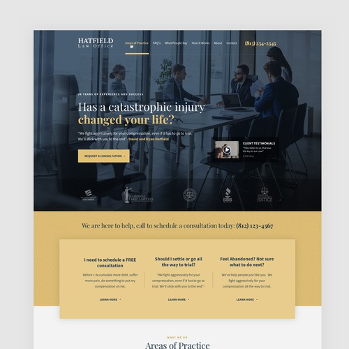 Hatfield Law Office Homepage