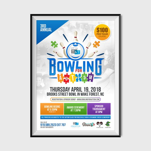 Bowling for Autism Poster Design