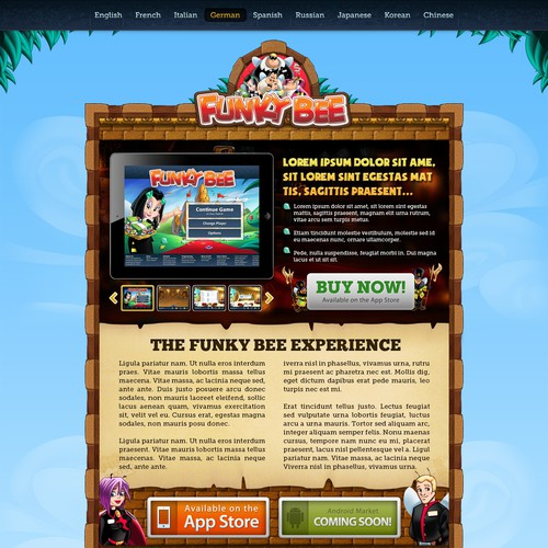 Funky Bee: Web Design