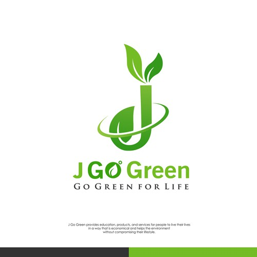"""J GoGreen """"protect plants and the environment to stay green"""""""