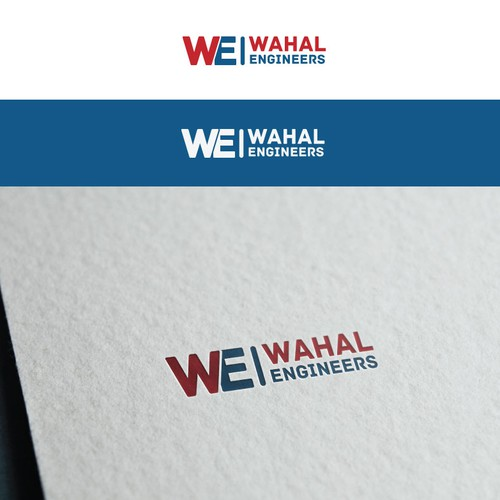 WE letters logo concept for an engineering company