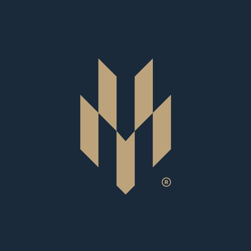 An geometric abstract logo design for Harford Mutual