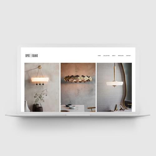 Squarespace website for Lighting Brand