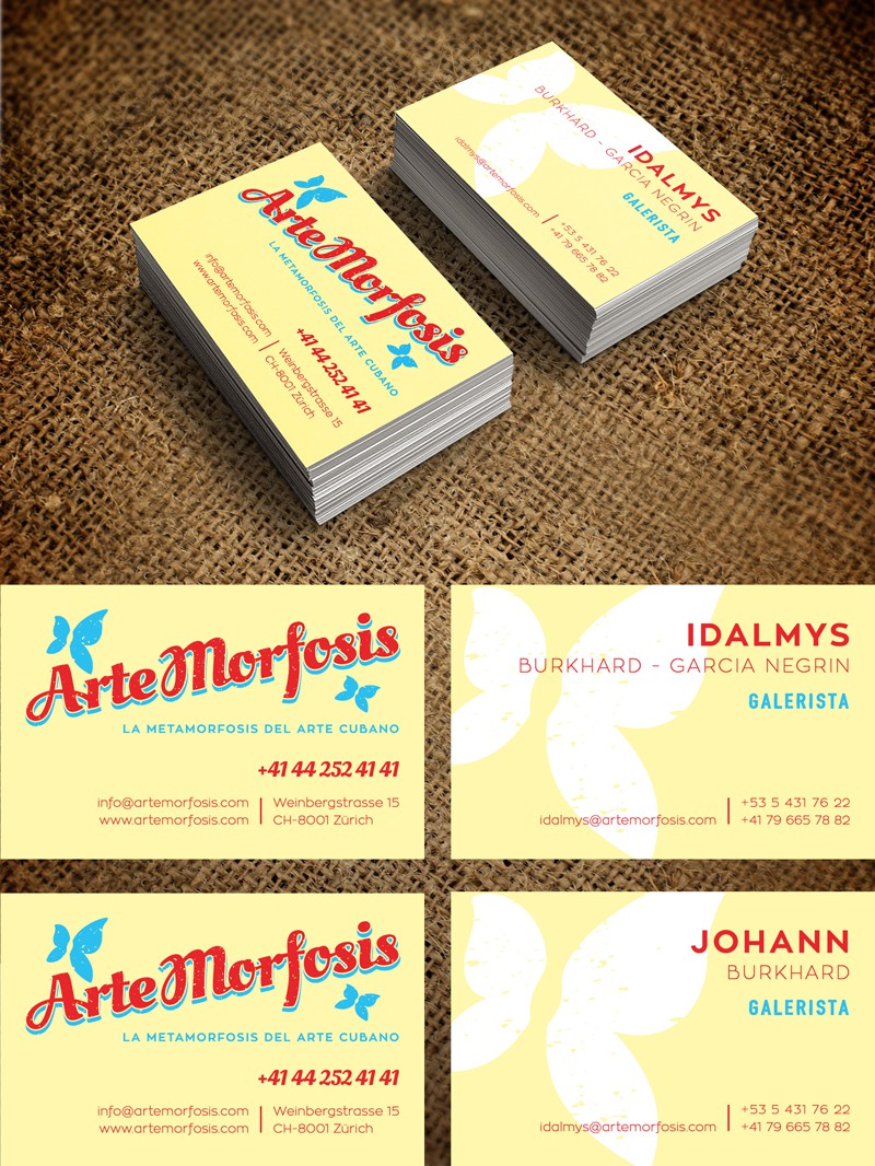 Logo & business card for art gallery (1to1 project for shop signage for winner))