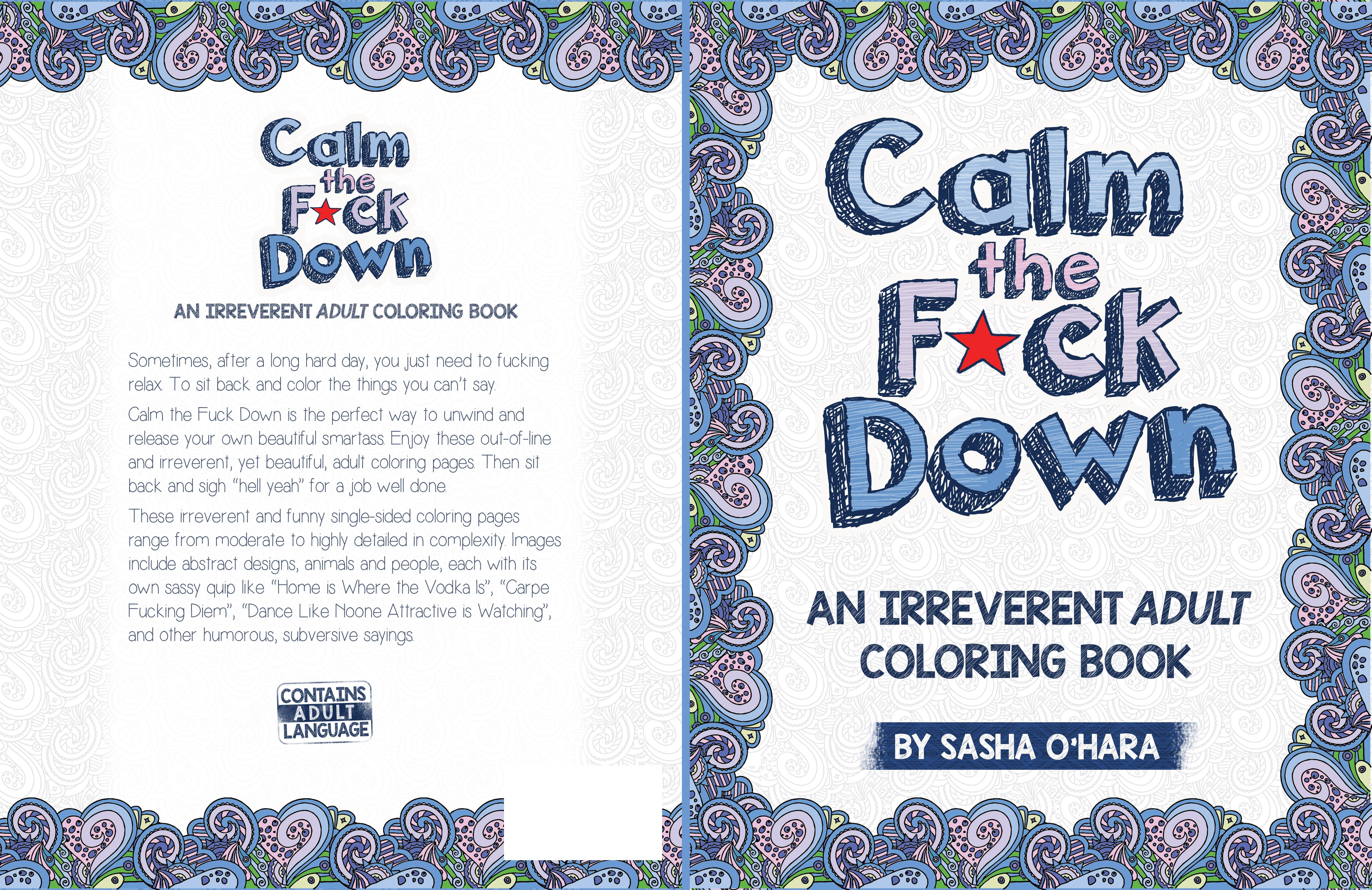 Create a Winning Irreverent Adult Coloring Book Cover for Createspace