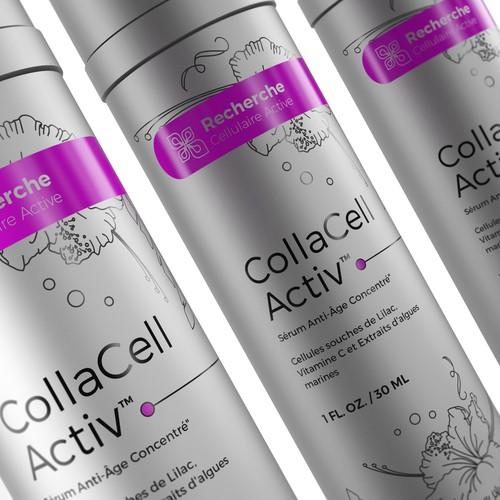 Anti-aging serum packaging design