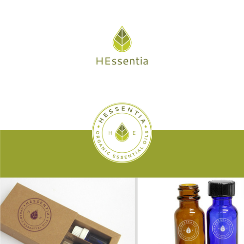 Create the logo for essential oils brand (French)