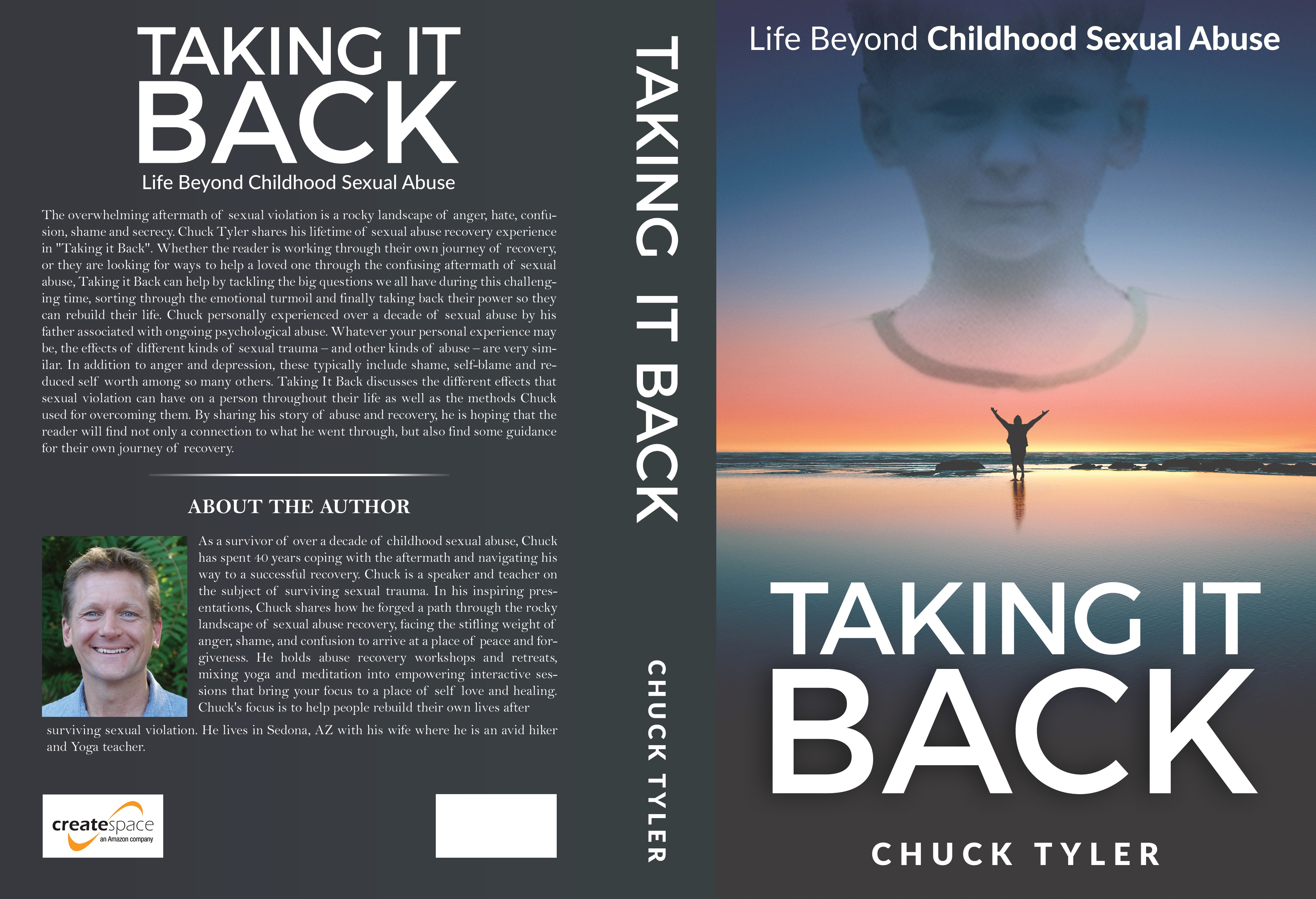 Design a positive, powerful self-help book cover for sexual abuse survivors