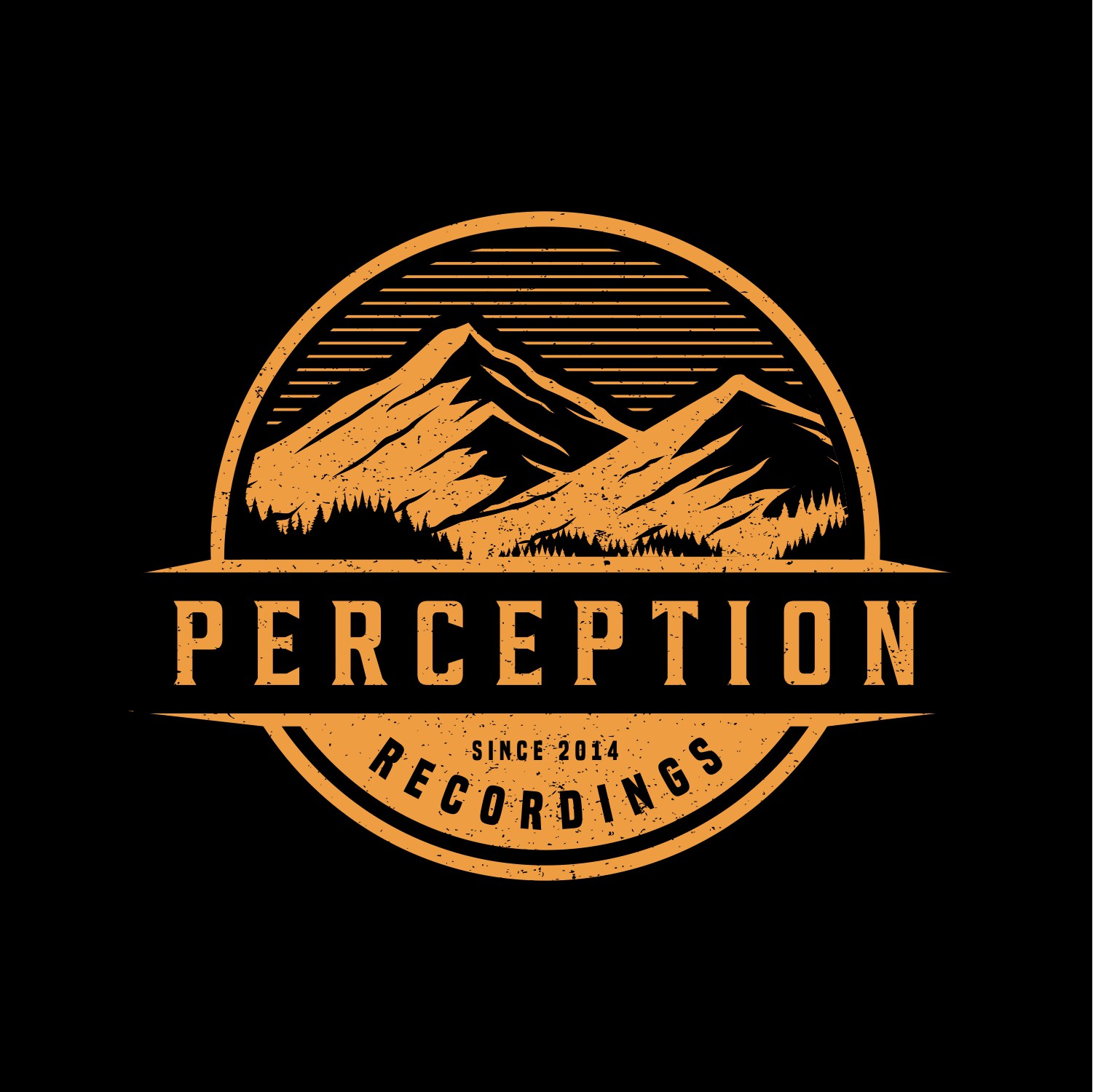 Create a modern logo for Perception Recordings