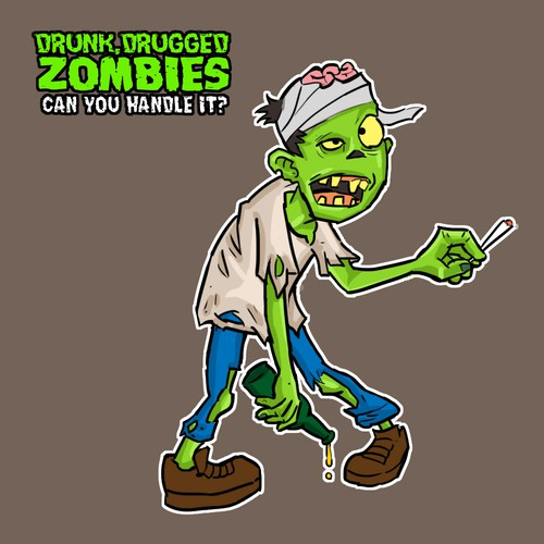 Drunk, High, & Drugged Zombies needs a awesome illustration