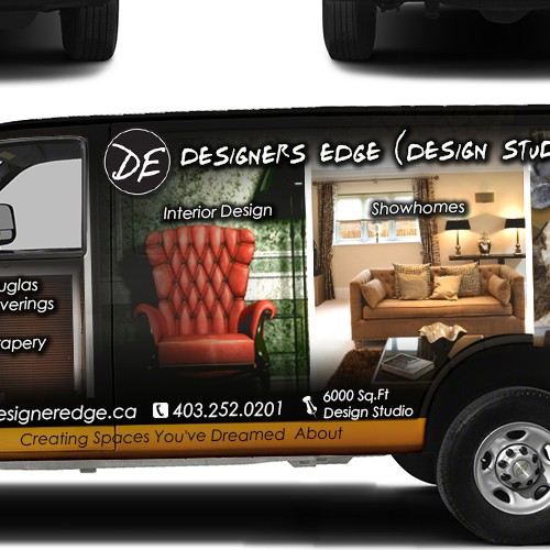 Wanted Creative and Cutting Edge Van Wrap for Interior Design Firm