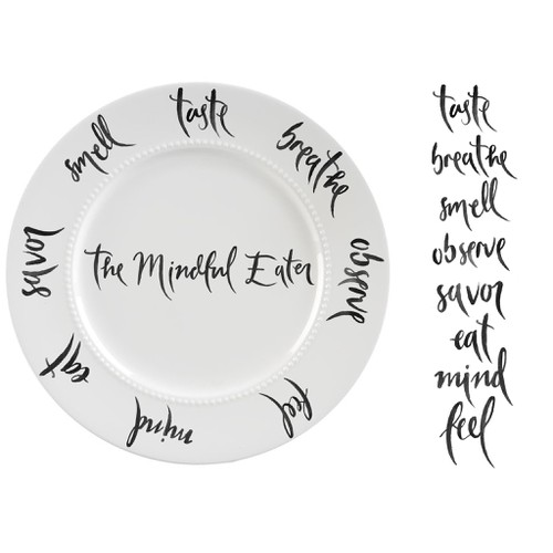 Handpainted lettering for mindfulness practise eating