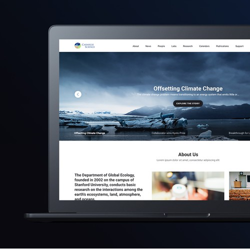 Science Organisation Landing Page
