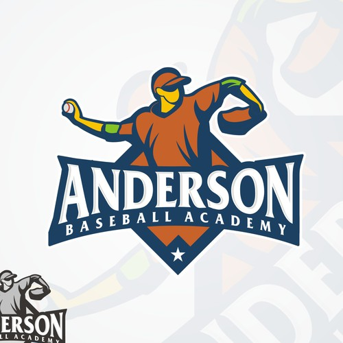 Create the next logo for Anderson Baseball Academy