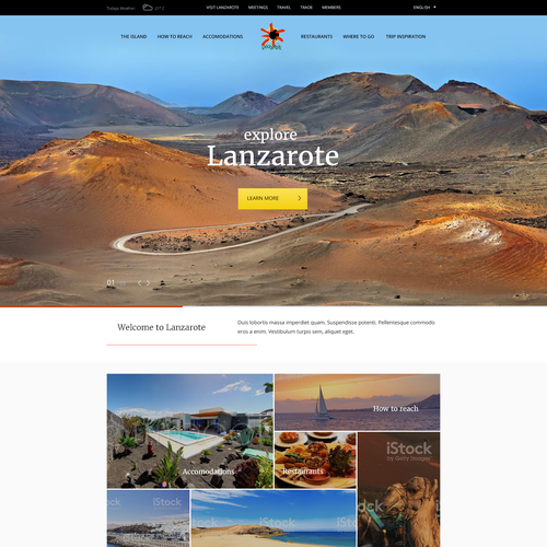 Bold Webdesign for Lanzarote Toursim