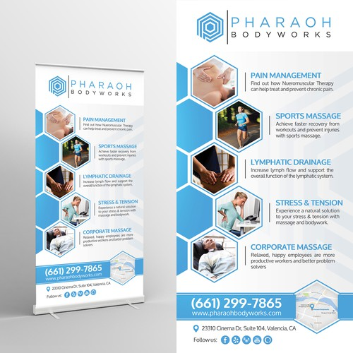 Retractable Banner Design (36x72) for Massage Therapy Company