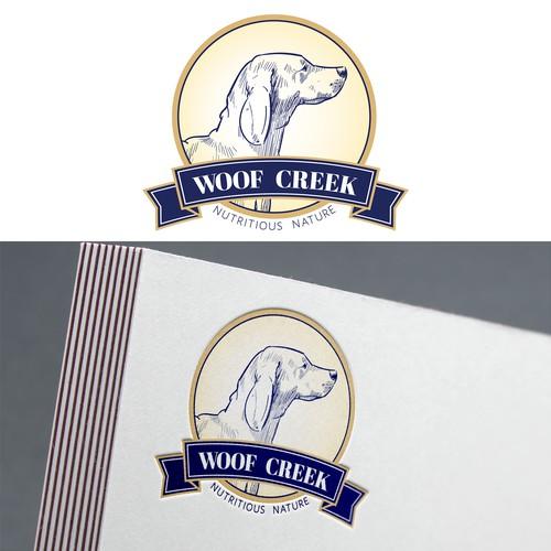 Woof Creek Logo Design