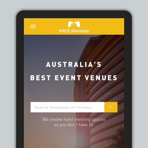 Mobile site version for an Australian hotel-review website