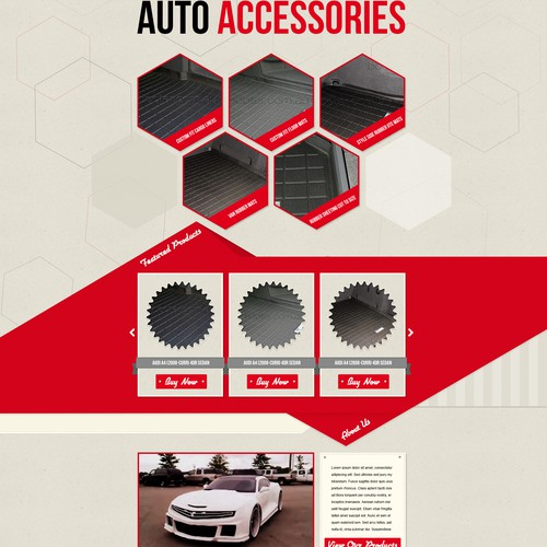 Homepage Design for Ecommerce Business - Car Accessories Seller