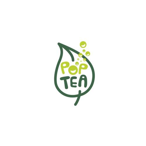 Logo concept for a new sparkling ice tea company