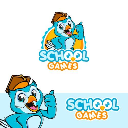 Friendly Mascot for School Games