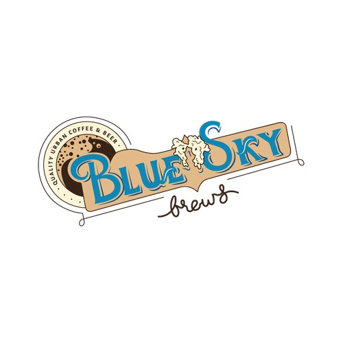 Blue Sky Brews Logo - Quality Urban Coffee and Beer