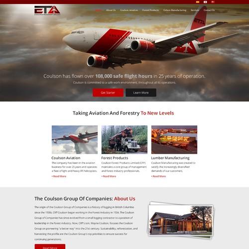 Eta Web design concept