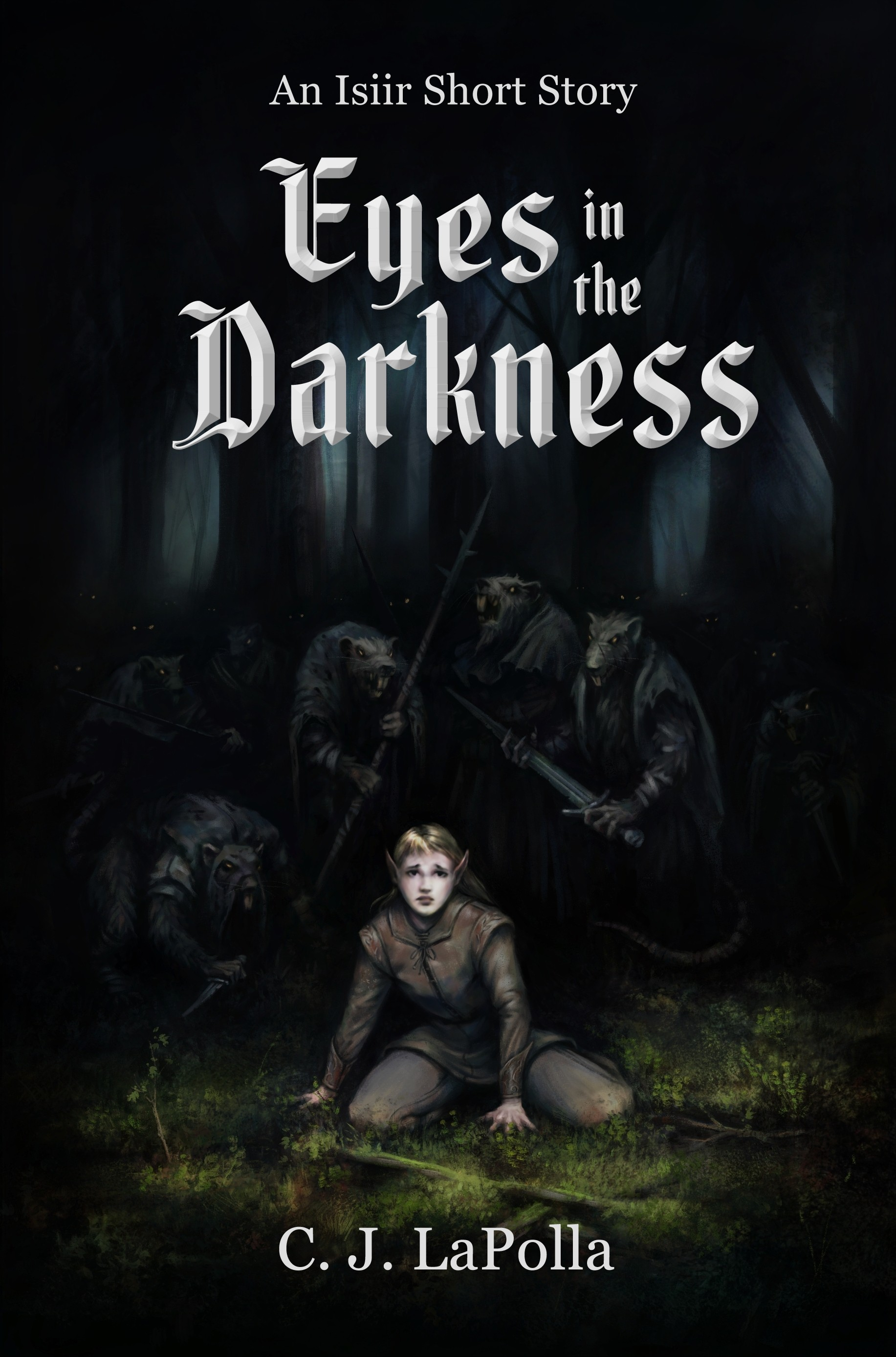 Evil Eyes follow a young elf girl in the ebook cover for Eyes in the Darkness.