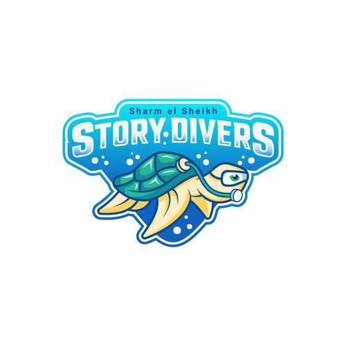 Sportive Logo Concept for diving center