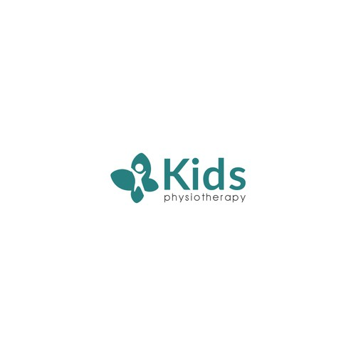 Negative space logo of Kids physiotherapy