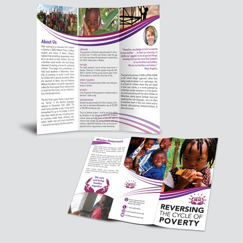 Update brochure for Orphanage in Africa