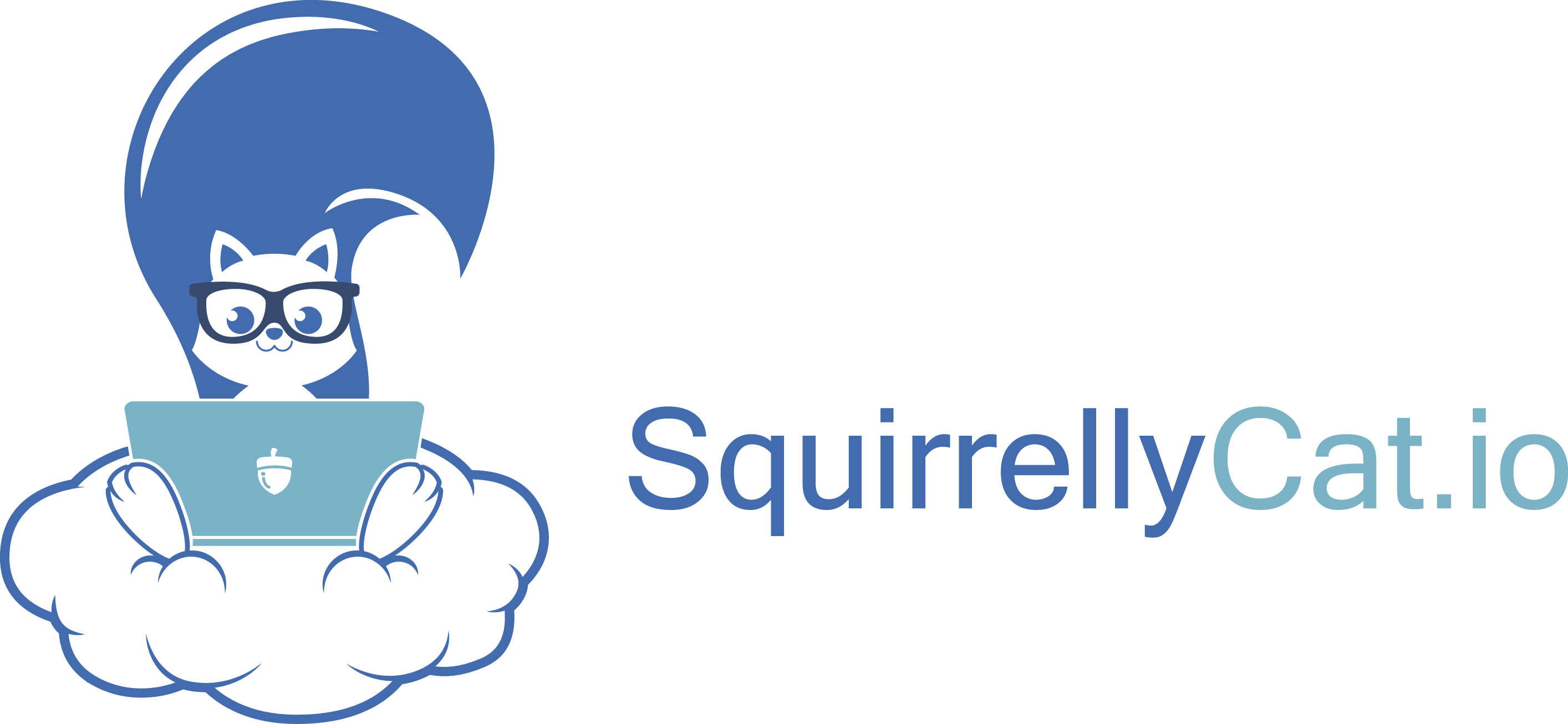 Design a hip/cool logo for SquirrellyCat.io data manipulation and workflow automation platform