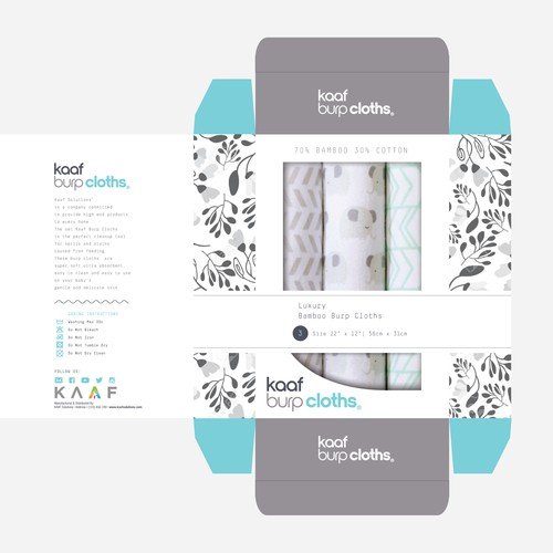 Bamboo Burp Cloths Box Design