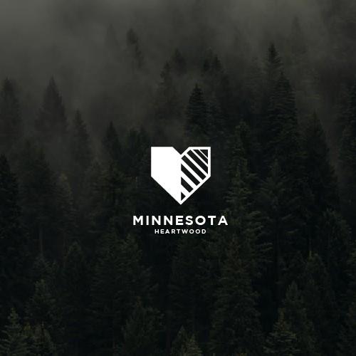 Logo copcept fir Minesota Heartwood