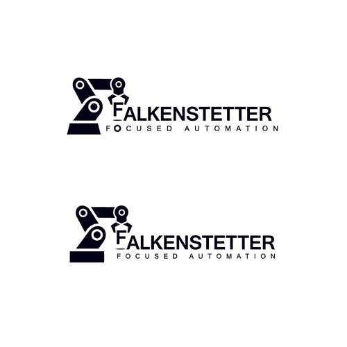 Bold logo for FALKENSTETTER - focused automation