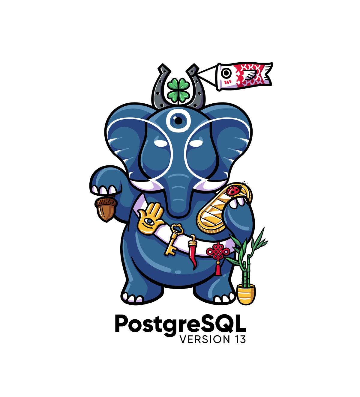 PostgreSQL version 13 release artwork