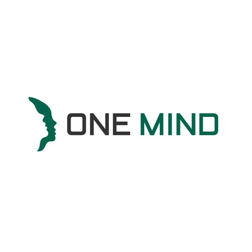 """The biggest challenge of all.  I need a logo design that describes """"one mind"""" without a brain our a"""