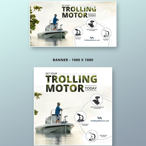Banner design for Trolling Motor