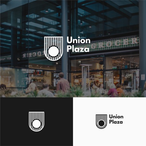 Logo for a plaza place.
