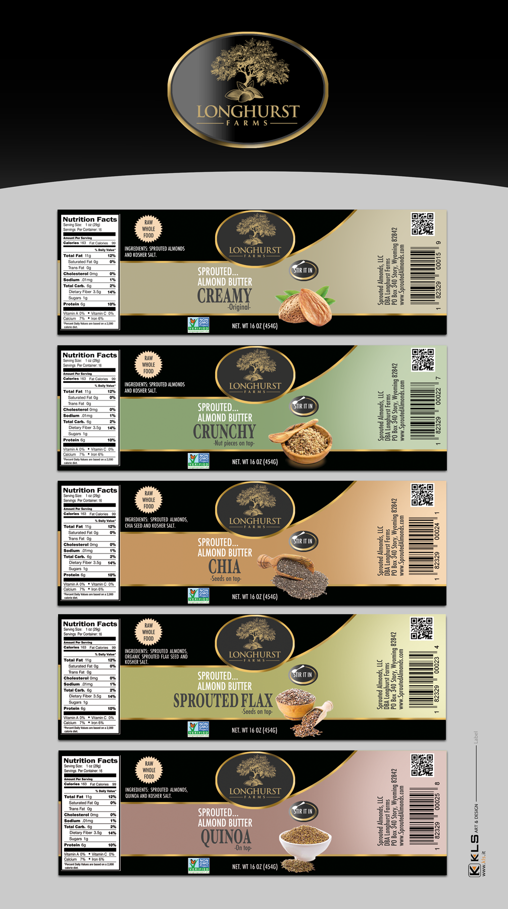New labels for sprouted almond nut butters