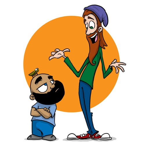 Bearded character designs for Children's book