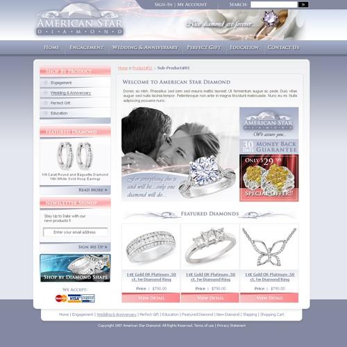 eCommerce Design for Diamonds